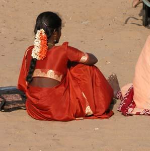 Orange_sari