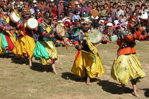 Jambay Lhakhang festival in Bhutan