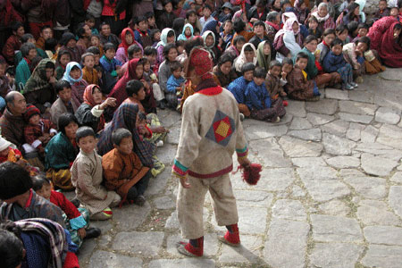 Spectators at Prakar festival in Bhutan
