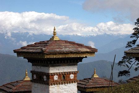 stupa in bhutan