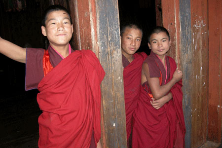 buddhist monks in bhutan