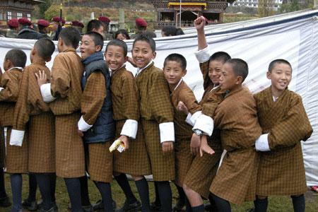Bhutan schoolboys