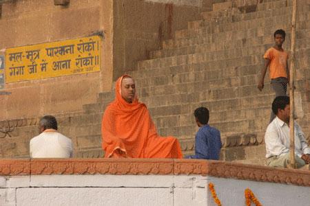 meditating at Varanasi