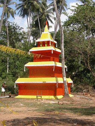 Orange and yellow stupa