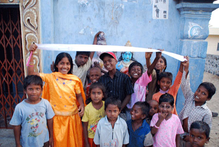 Flat Stanley with Indian children
